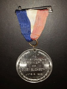 Queen Elizabeth II - coronation medal back