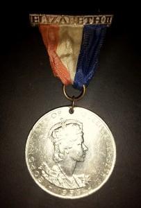 Queen Elizabeth II - coronation medal front