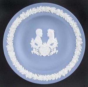 Wedgewood plate - 19XX wedding