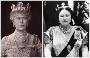 Duchess of Teck diamond collet - Queen Mary and the Queen Mother