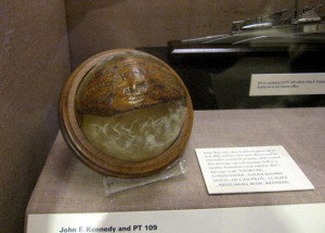 JFK Presidential Library  - PT-109 coconut