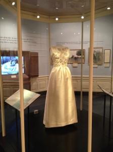 JFK Presidential Library  - dress worn by Jackie Kennedy - Paris 1961