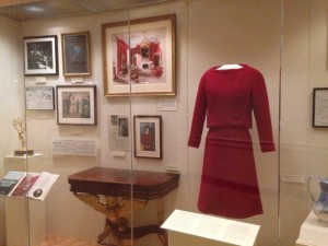 JFK Presidential Library  - dress worn by Jackie Kennedy for the White House television tour