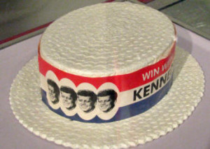 JFK Presidential Library  - presidential campaign hat
