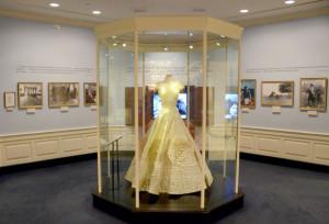 JFK Presidential Library  - wedding dress worn by Jackie Kennedy