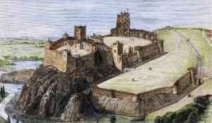 Nottingham Castle etching
