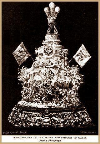 Prince Edward and Princess Alexandra wedding cake