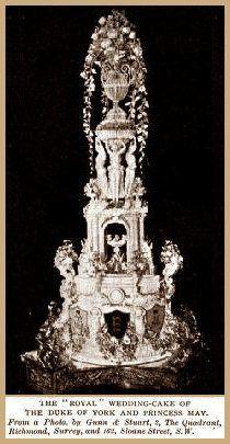Prince George and Princess May wedding cake 1
