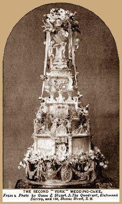 Prince George and Princess May wedding cake 2