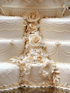 A small section of the eight tiered wedd