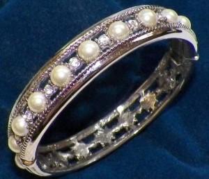 Diamond and pearl bracelet  - wedding gift from JFK