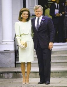Jackie Kennedy Onassiss and Ted Kennedy