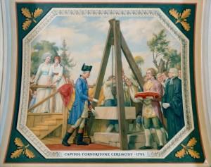 Capitol Cornerstone Ceremony Mural