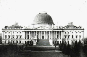 Capitol - dome completed before statue