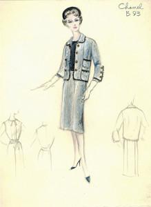Chanel suit sketch