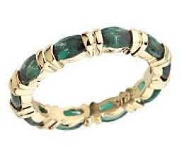 Emerald anniversary ring