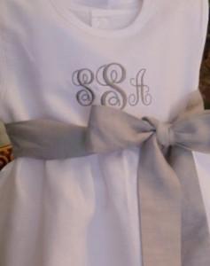 Girl dress monogram 1