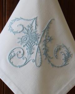 Handkerchief monogram 1