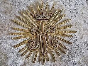 Marie Antoinette royal monogram - goldwork