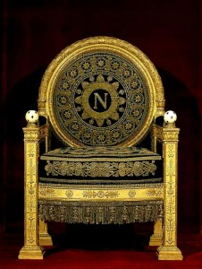 Napoleon royal monogram on throne - France Percier et Fontaine