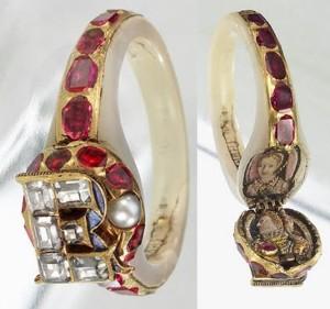 Queen Elizabeth I locket ring