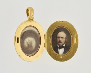 Queen Victoria locket opened