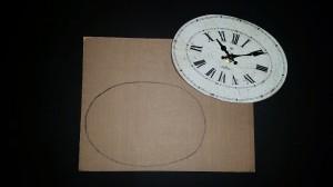 Altered clock - cardboard insert