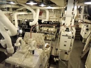 Britannia Royal Yacht - engine room