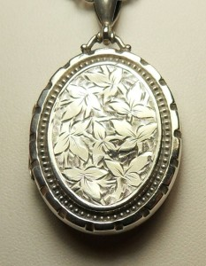Etched Victorian locket