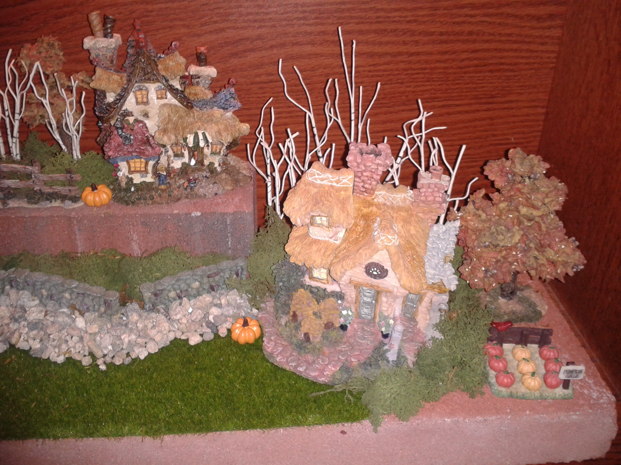 Decorating Ideas > Fall Victorian Centerpiece  The Enchanted Manor ~ 075812_Thanksgiving Village Decorations