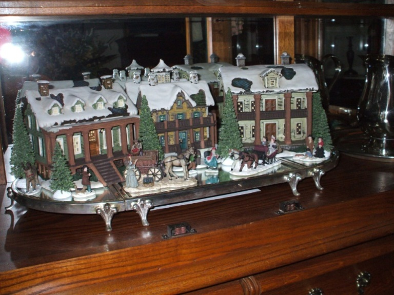 Currier And Ives Porcelain Houses The Enchanted Manor