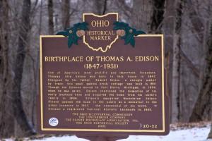 Ohio Historical Marker - Thomas Edison