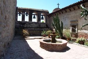 Mission San Juan Capistrano mission bells from interior