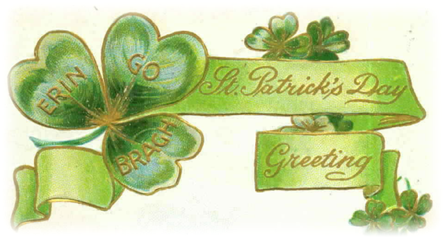 St. Patrick's Day vintage card