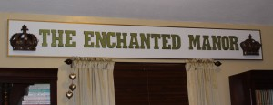 The Enchanted Manor sign