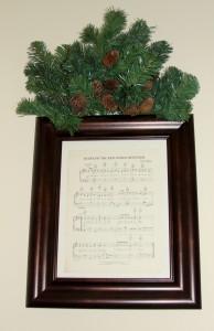 Dining room framed sheet music 3