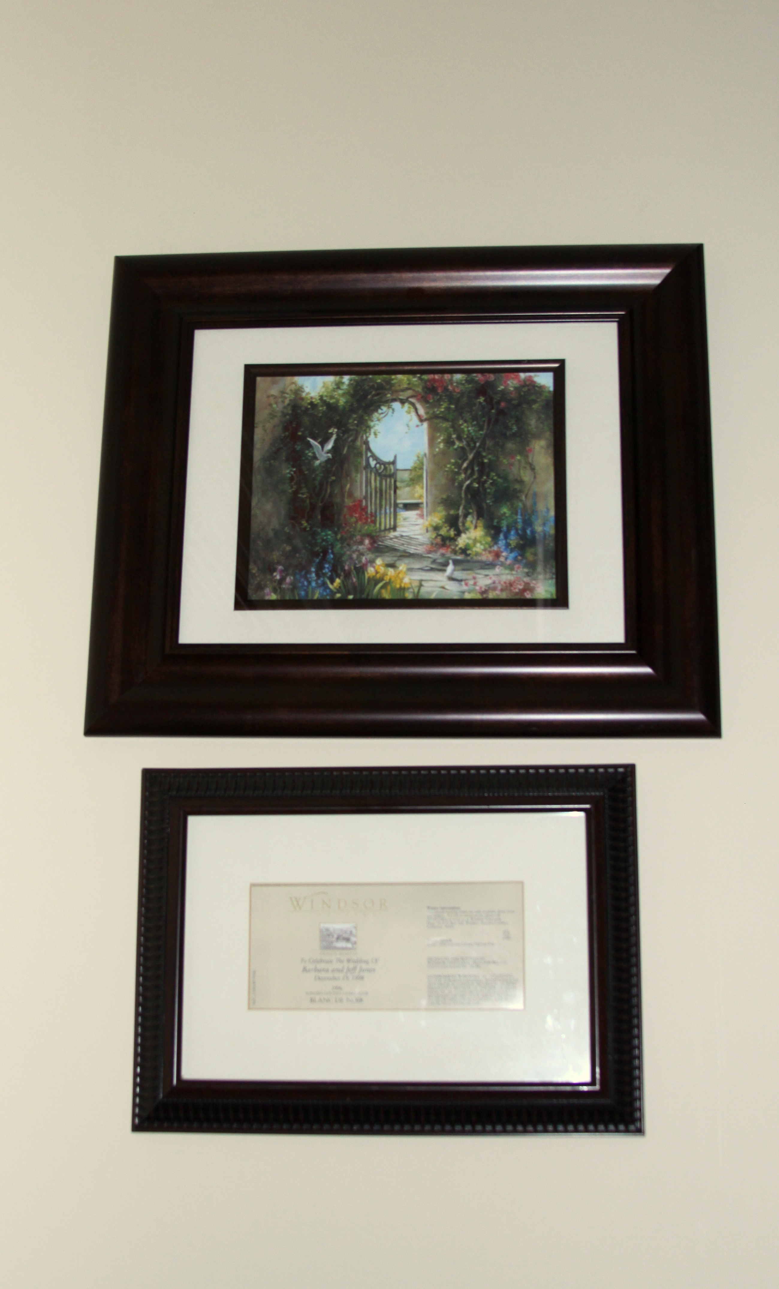 April 2013 the enchanted manor for Dining room framed art