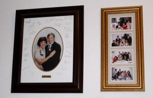 Hallway wedding photos