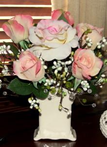 Home office floral arrangement