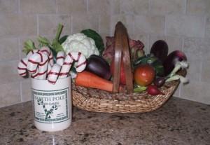 Kitchen vegetable arrangement - christmas