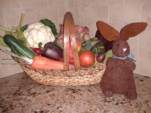 Kitchen vegetable arrangement - spring