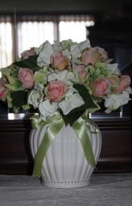 Master bedroom floral arrangement