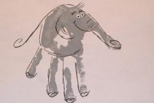 Zoo hand print - elephant 2