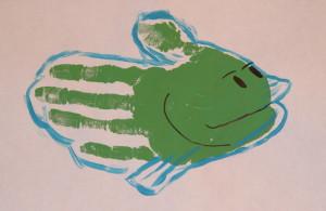Zoo hand print - fish