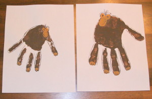 Zoo hand print - monkey 1