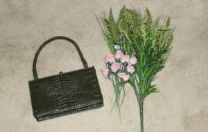 Floral purse green 1