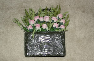 Floral purse green 2