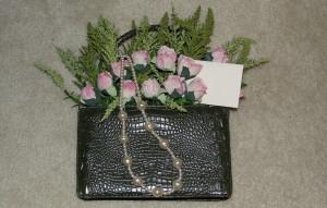 Floral purse green 3