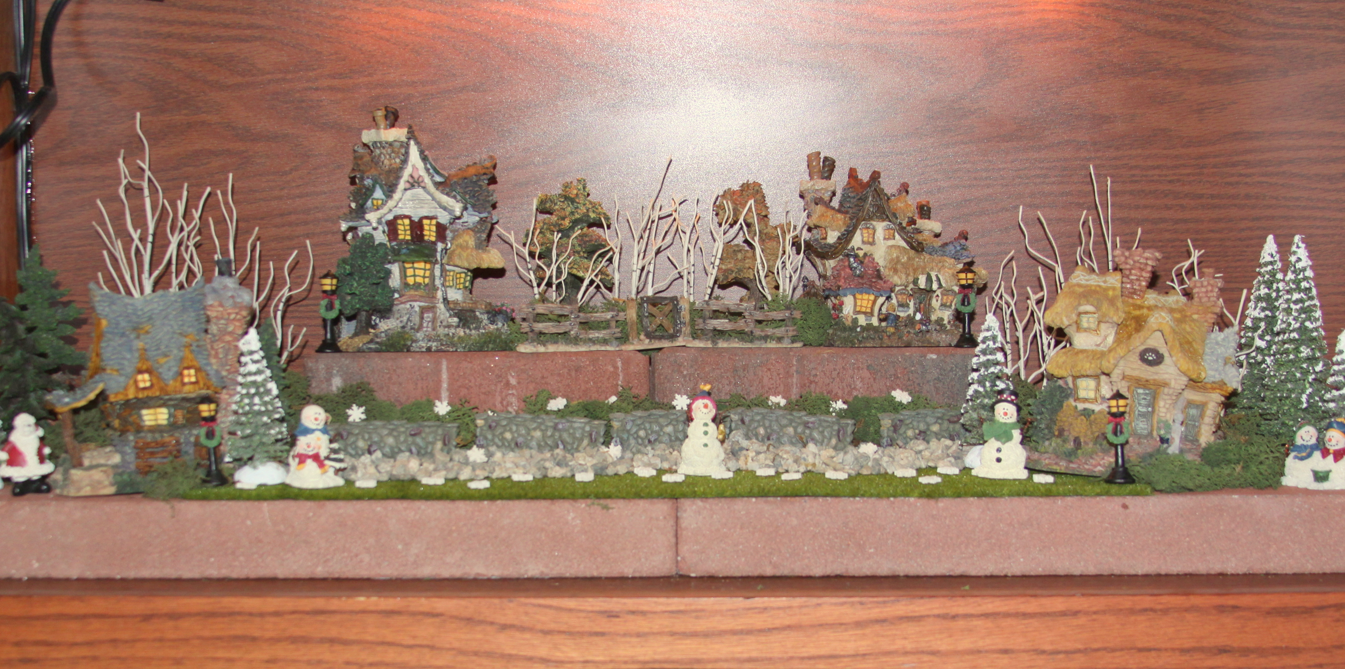 Decorating Ideas > Displaying A Boyds Bears Collection  The Enchanted Manor ~ 075812_Thanksgiving Village Decorations