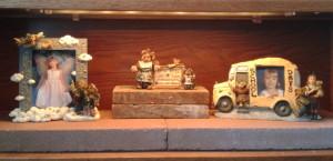 2013 Boyds Bears bookcase - first shelf